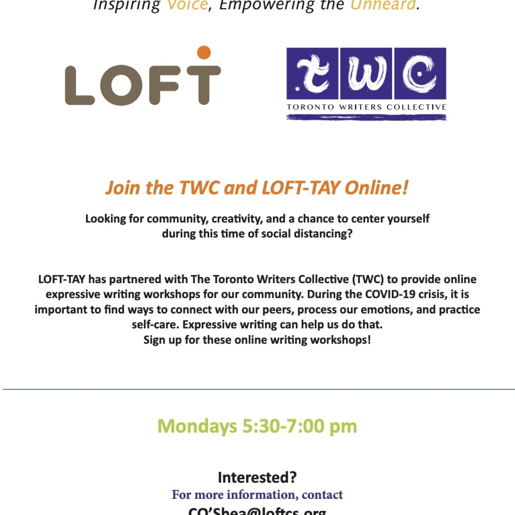 The LOFT Transitional Age Youth Programs In-House Workshop @ Toronto | Ontario | Canada